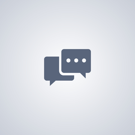 Chat vector icon, Talk vector icon