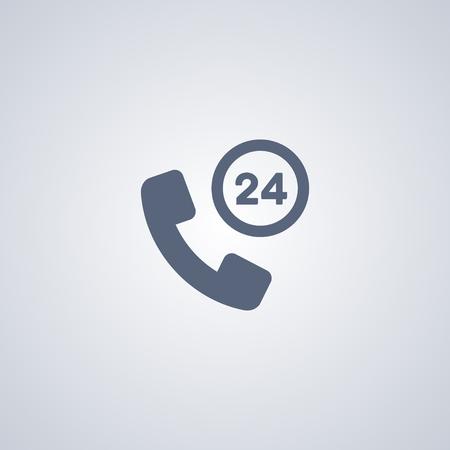 Call online vector icon, helpline vector icon