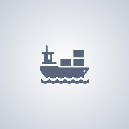 Ship vector icon, transportation vector icon