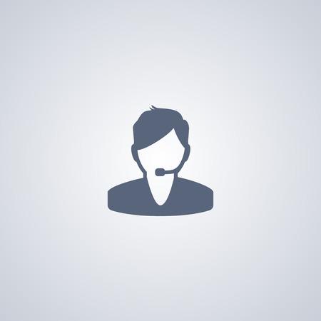 Operator vector icon, support vector icon Ilustração