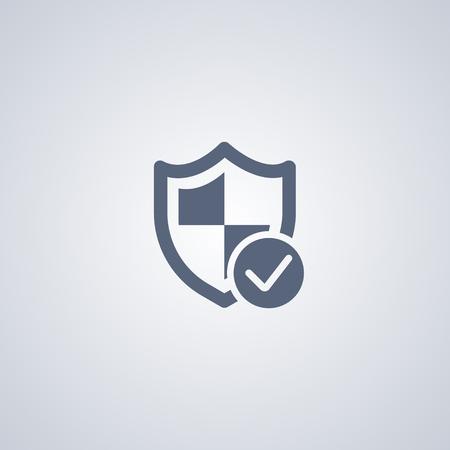 Guarante of security vector icon, Shield vector icon