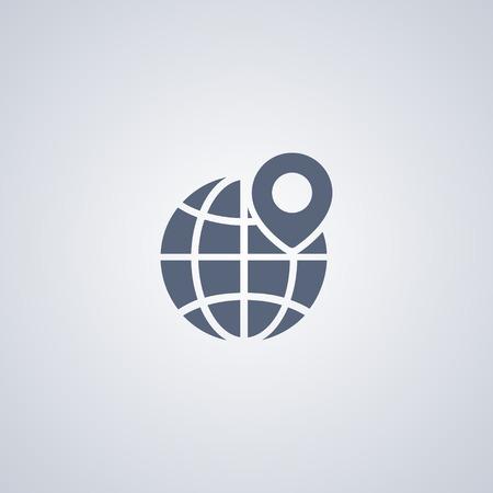 Global location vector icon Ilustração