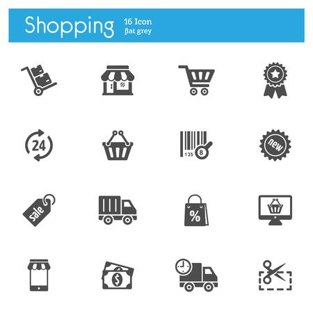 Shoping vector icon, store vector icon Ilustração