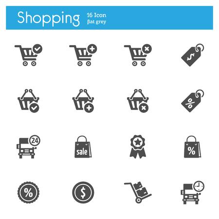 Shop vector icon, Market vector icon, Store vector icon