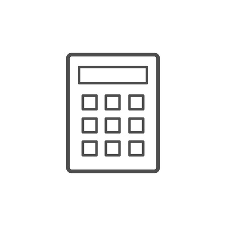 Calculator icon vector. Savings, finances sign isolated on white, economy concept