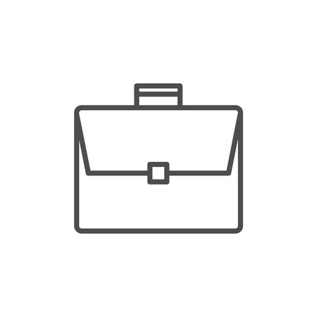 Briefcase icon. Black on white background