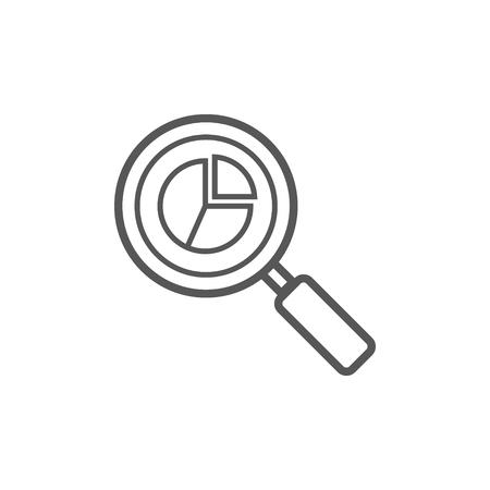 Analytics Icon, Web Analytics Vector Icon Ilustração