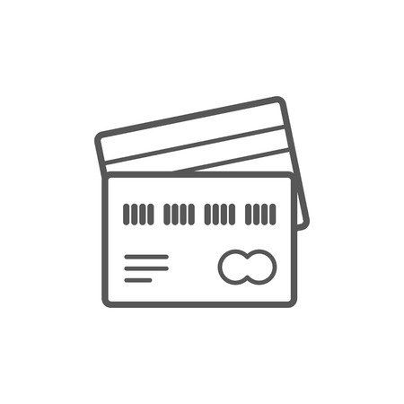 Identification card line icon for web, mobile and infographics Ilustração