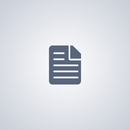 Document, file, vector best flat icon on white background , EPS 10 Imagens - 101866182