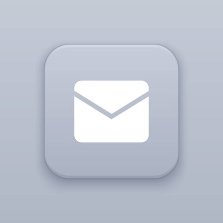 Message, mail button, best vector on a gray background Ilustração