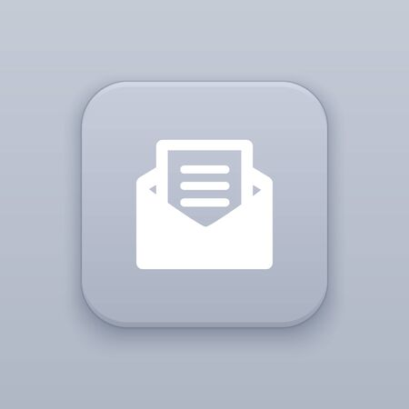 Email message button, best vector on a gray background