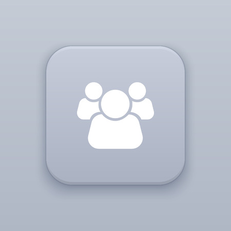 People, partnership button, best vector on a gray background