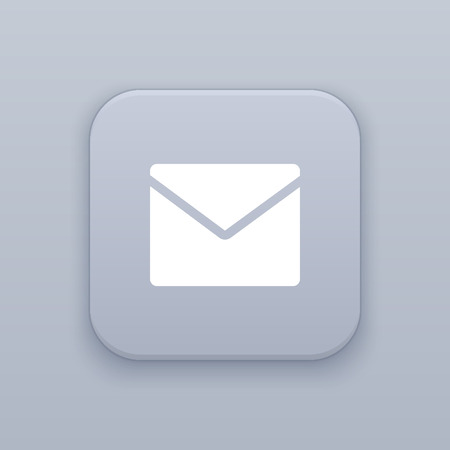 E-mail, send button, best vector on a gray background