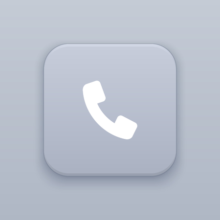 Call, communication button, best vector on a gray background Ilustração