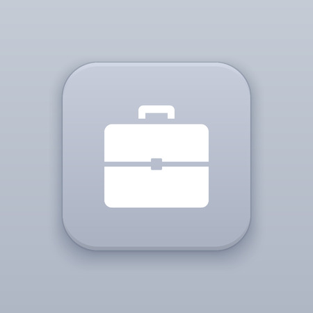 Briefcase, portfolio button, best vector on a gray background