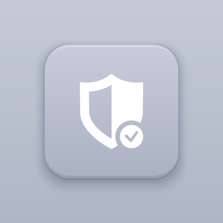 Security, protection button, best vector on a gray background Ilustração