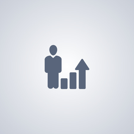 Growth, increasing, vector best flat icon on white background