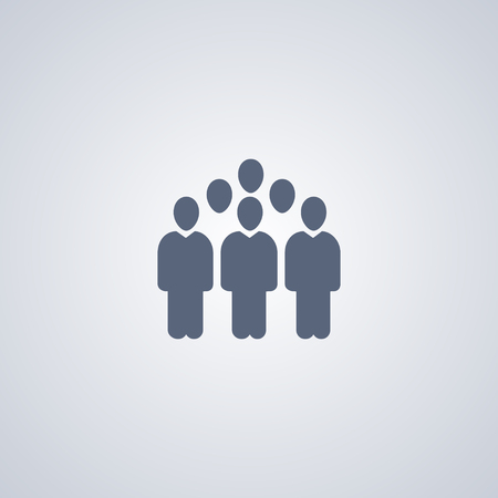People groups, vector best flat icon on white background