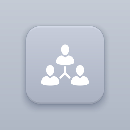 Management Team Hierarchy button, best vector on a gray background