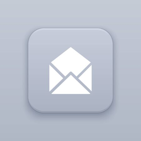 E-mail. mail button, best vector on a gray background