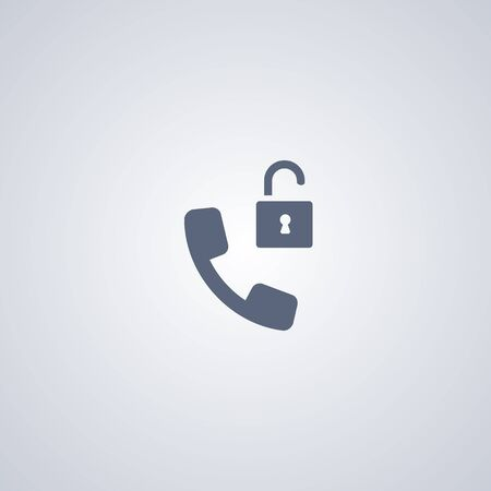 Unblock, contact, vector best flat icon on white background