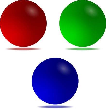 matte: three colored matte sphere