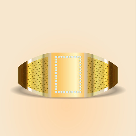 gold ring: gold ring with stone