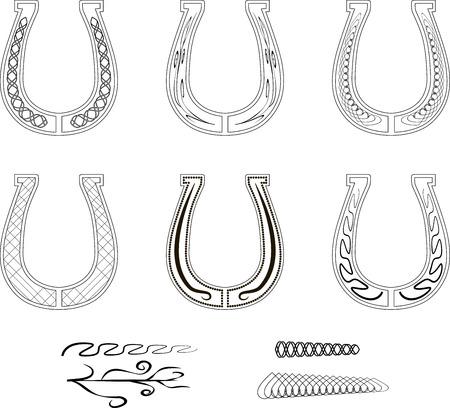 set of ornate horseshoes