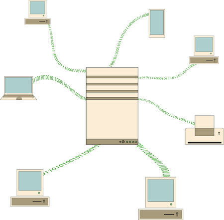 data transmission: data transmission in a computer network between devices