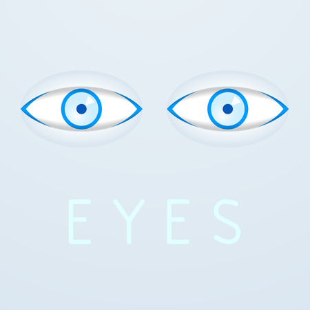 eyelids: Blue eyes poster.