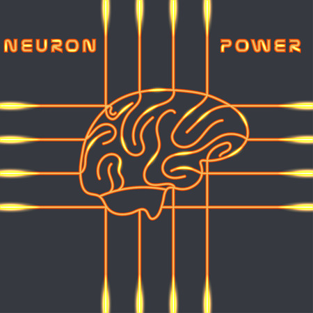 neural: Power of the neural system of the brain Illustration