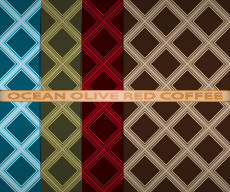 set colored square pattern