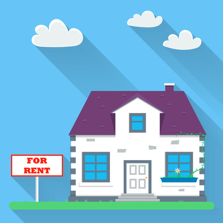 Flat real estate rental. Vector illustration
