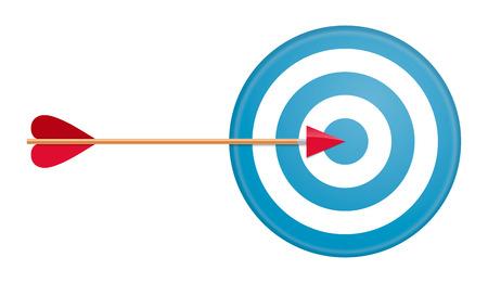 dart board: Arrow and target. Vector illustration