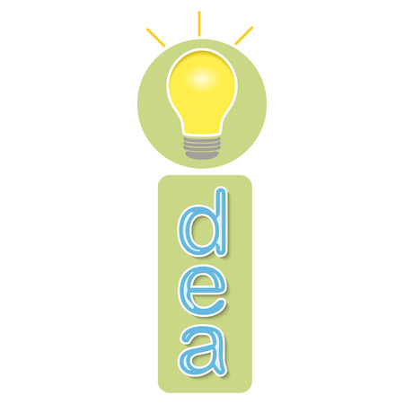 Concept of idea with light bulb. Vector illustration Illustration