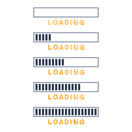 Vector loading bar set