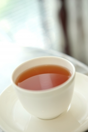 a cup of popular hot chinese brown tea Stock Photo - 18496440