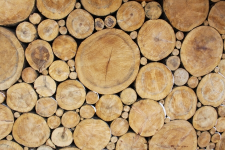 log on: Stacked Logs Background Stock Photo