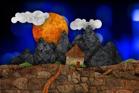 Suburban landscape, illustration Stock Illustration - 10099950