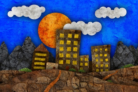 Urban landscape illustration illustration