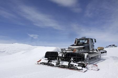 snowcat: special snow vehicle Stock Photo