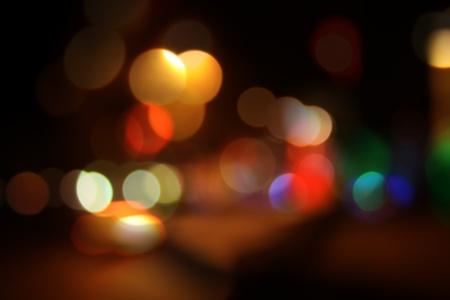 noche de la ciudad bokeh Foto de archivo