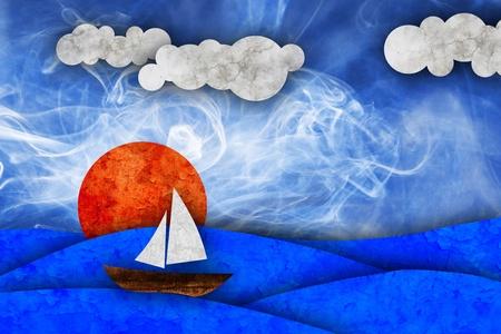 sea, sun, sailboat