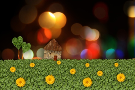 rural landscape illustration Stock Illustration - 10474170