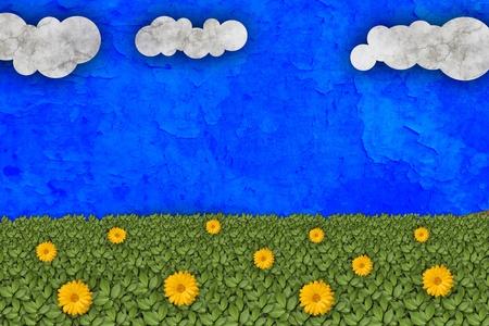 Green meadow illustration Stock Illustration - 10894334