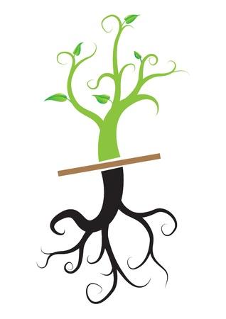 젊은 식물, 벡터