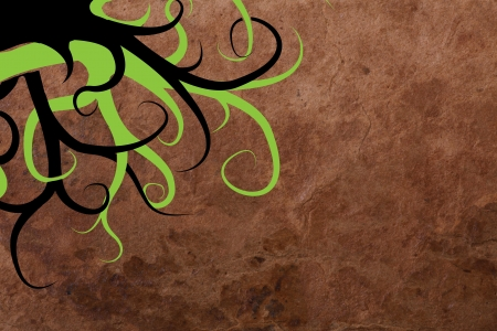 retrospect: abstract old paper background with swirl Stock Photo