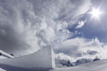 Big Air, Snow Park for snowboarding photo