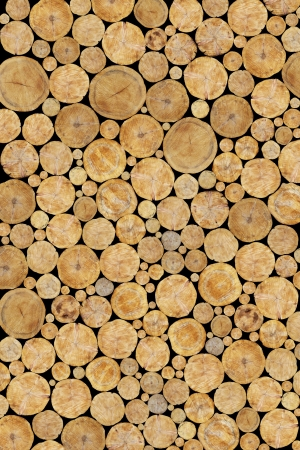 Stacked Logs Background Stock Photo