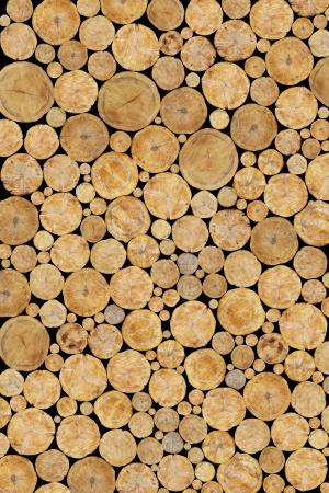 Stacked Logs Background Foto de archivo
